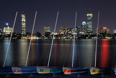 Sailing at night in the office Stock Photos