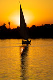 Sailing on the Nile, Egypt at Sunset stock image