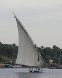The sailing of the Nile in luxor, Egypt at sunset Stock Photo
