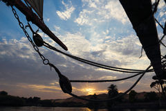 The sailing of the Nile at sunset Royalty Free Stock Photo