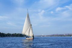Sailing on the Nile. Travel on a sloop of the Nile river Stock Photography