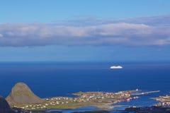 Sailing by norwegian coast Royalty Free Stock Image