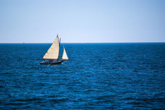 Sailing Ocean Blue Royalty Free Stock Photos