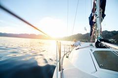 Sailing ocean boat Stock Image