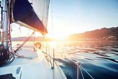 Sailing ocean boat Royalty Free Stock Photo