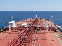 Sailing on the ocean of super tanker Royalty Free Stock Photo