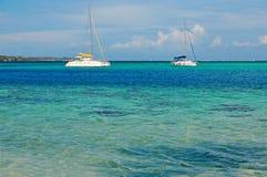 Sailing off Moorea Tahiti, French Polynesia Royalty Free Stock Photo