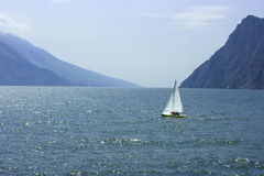 Sailing On Lake Garda Stock Photos