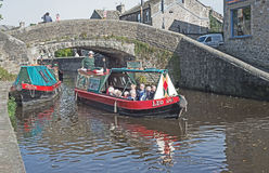 Sailing On Leeds And Liverpool Canal Royalty Free Stock Photography