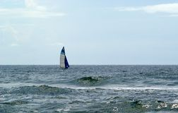 Sailing in Open Water Royalty Free Stock Images