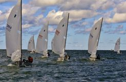 Sailing on the open water Royalty Free Stock Photography