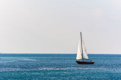 Sailing on an open water Royalty Free Stock Images