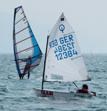 Sailing - Optimist Class royalty free stock images