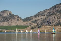 Sailing, Osoyoos Lake BC Stock Photography