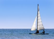 Sailing Out to Sea Royalty Free Stock Photo