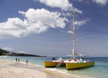 Sailing in paradise Royalty Free Stock Images