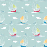 Sailing Pattern Stock Photo