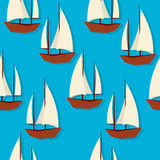Sailing pattern Royalty Free Stock Images
