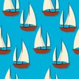 Sailing pattern Royalty Free Stock Images