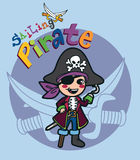 Sailing Pirate Royalty Free Stock Images