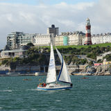 Sailing on Plymouth Sound Devon England Royalty Free Stock Photography
