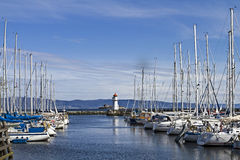 Sailing port  Trondheim Royalty Free Stock Image