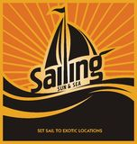 Sailing poster vector design template Royalty Free Stock Photos