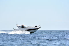 Sailing and power boat Stock Photography