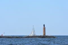 Sailing and power boat Royalty Free Stock Photos