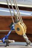 Sailing pulley royalty free stock photography