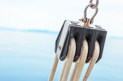 Sailing pulley Royalty Free Stock Photo