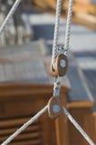Sailing pulleys royalty free stock photos