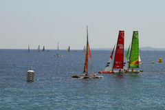 Sailing race Stock Images