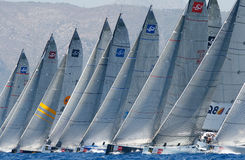 Sailing race regatta in Mallorca´s bay Stock Images