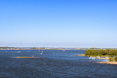 Sailing regatta in Bay of Helsinki, Finland Stock Images