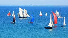 Sailing Regatta in the Cancale Bay. Royalty Free Stock Photography