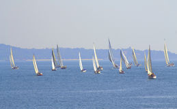 Sailing regatta Cor Caroli start Stock Photo