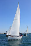 Sailing regatta of cruiser sailing yachts Stock Image