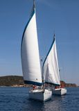 Sailing regatta Ellada Royalty Free Stock Image