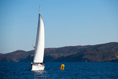 Sailing regatta in Greece Stock Image