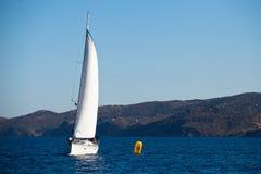 Sailing regatta in Greece Stock Image