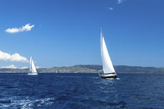 Sailing regatta. Luxury yachts. Stock Photos