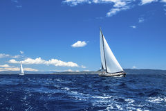 Sailing regatta. Luxury yachts. Royalty Free Stock Images
