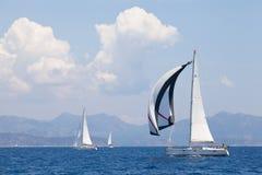 Sailing regatta from Marmaris to Fethiye, Turkey. Stock Images