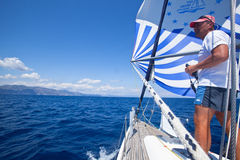 Sailing regatta from Marmaris to Fethiye, Turkey. Royalty Free Stock Photos