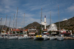 Sailing regatta from Marmaris to Fethiye, Turkey. Royalty Free Stock Photography