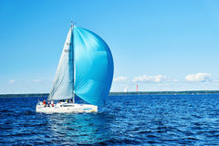Sailing regatta in Russia Royalty Free Stock Images