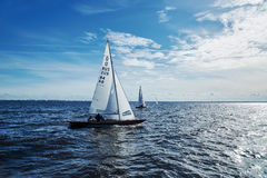 Sailing regatta in Russia Royalty Free Stock Image