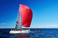 Sailing regatta in Russia Royalty Free Stock Photo