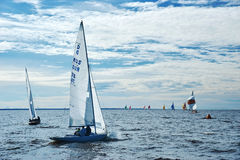 Sailing regatta in Russia Stock Photo